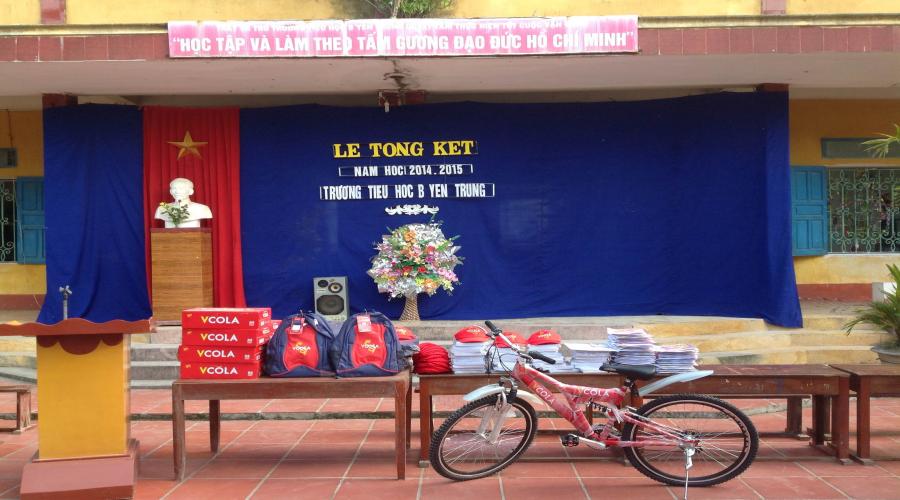 Vcola tài trợ trường học cấp 1.2 Nam Định