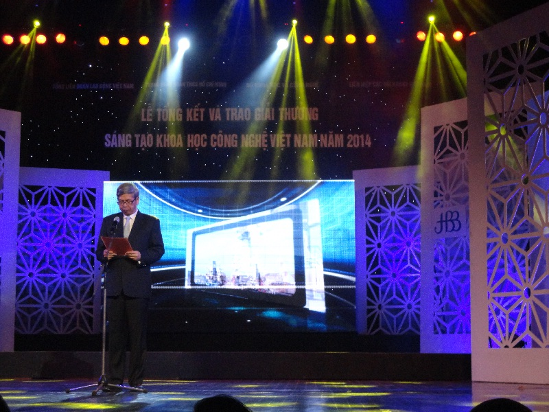 Lễ trao giải thưởng sáng tạo KHCN năm 2014 - 28/5/2015