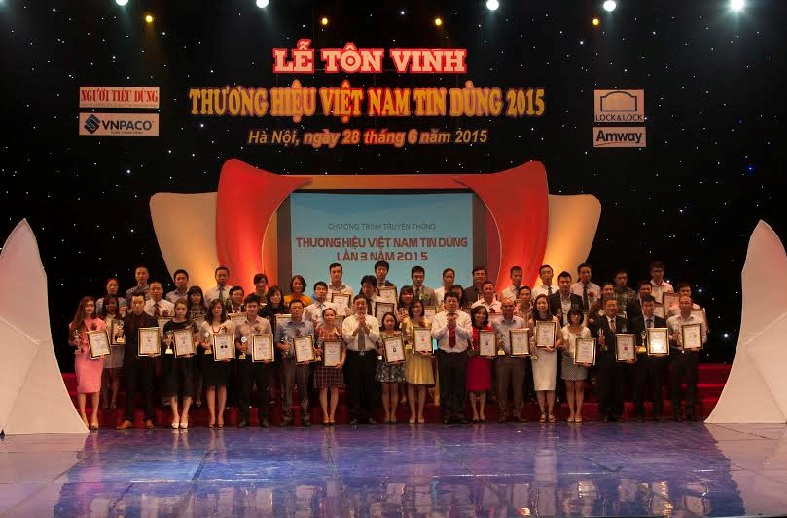 """HBB được bình chọn là """"Thương hiệu Việt Nam tin dùng"""""""